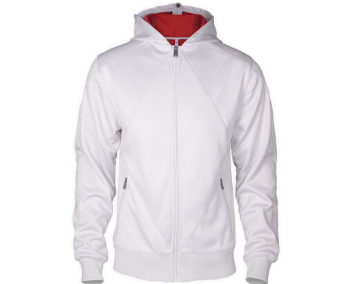 Desmond Miles Hoodie - White With Eagle, , large