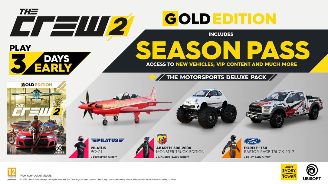 buy the crew 2 gold edition for ps4 xbox one and pc