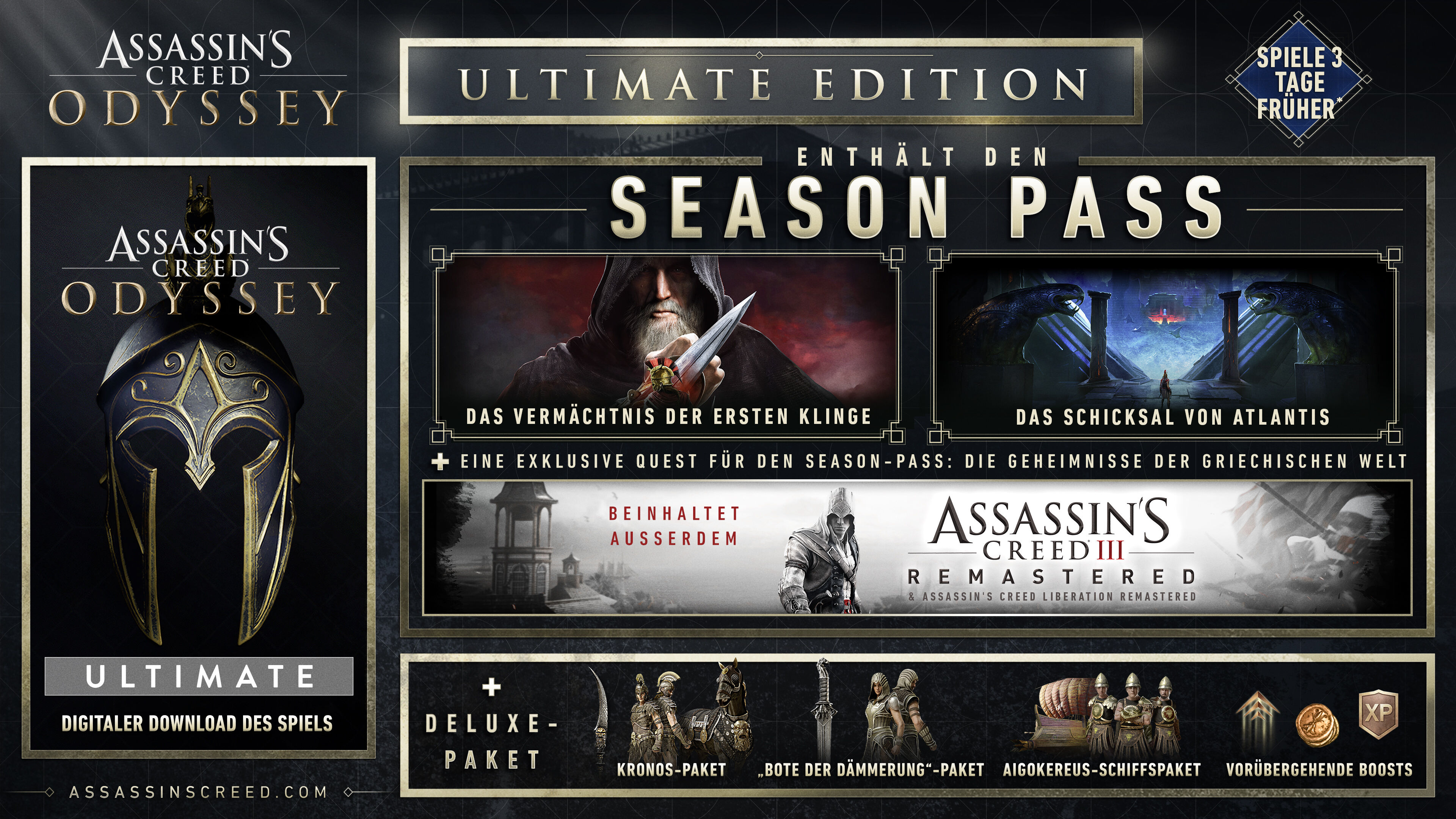 Assassin's Creed Odyssey Steelbook (exkl. bei