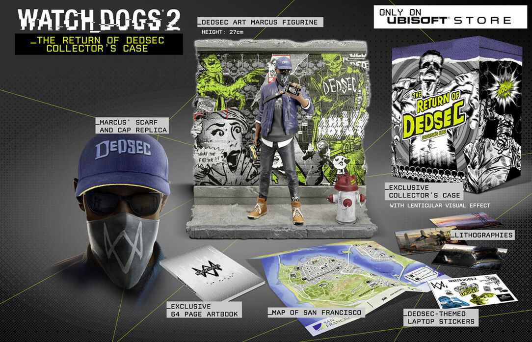 Watch Dogs 2 Official Playstation Store Pre Order: The Return Of Dedsec Standalone Collector's
