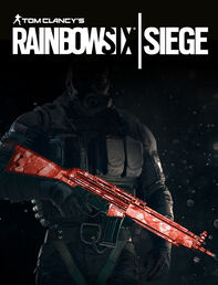 tom clancys rainbow six siege - ruby weapon skin dlc
