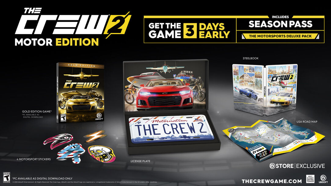 buy the crew 2 motor edition for ps4 xbox one and pc. Black Bedroom Furniture Sets. Home Design Ideas