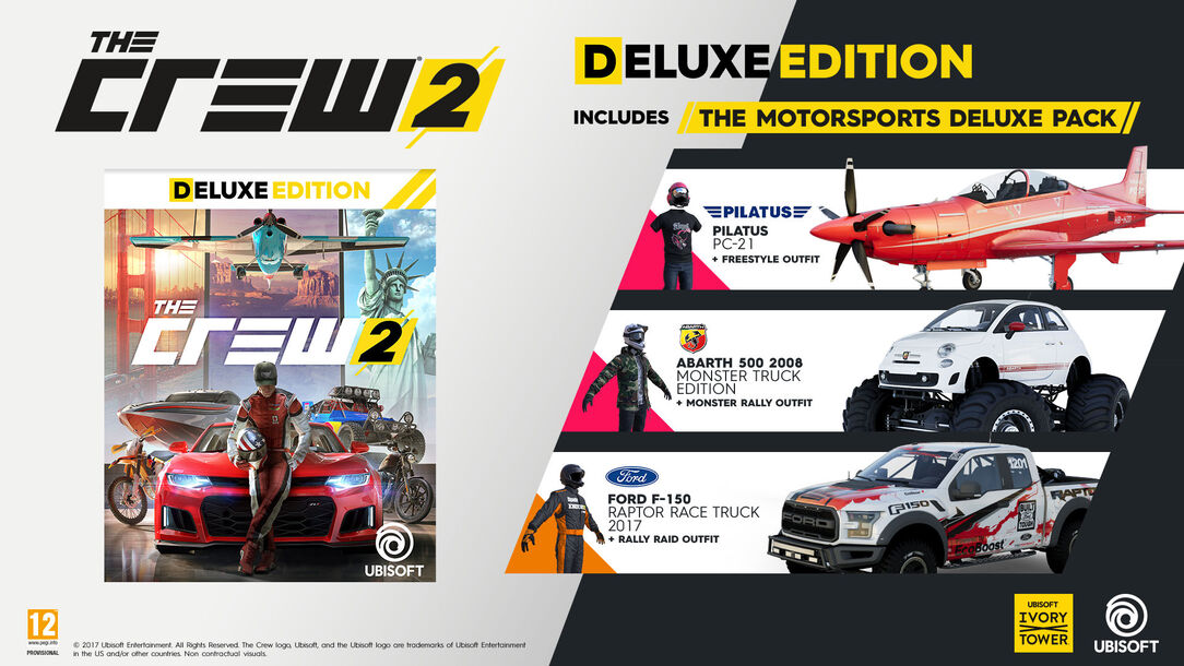 buy the crew 2 deluxe edition for ps4 xbox one and pc. Black Bedroom Furniture Sets. Home Design Ideas