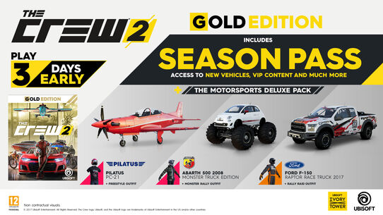 buy the crew 2 gold edition for ps4 xbox one and pc ubisoft official store. Black Bedroom Furniture Sets. Home Design Ideas