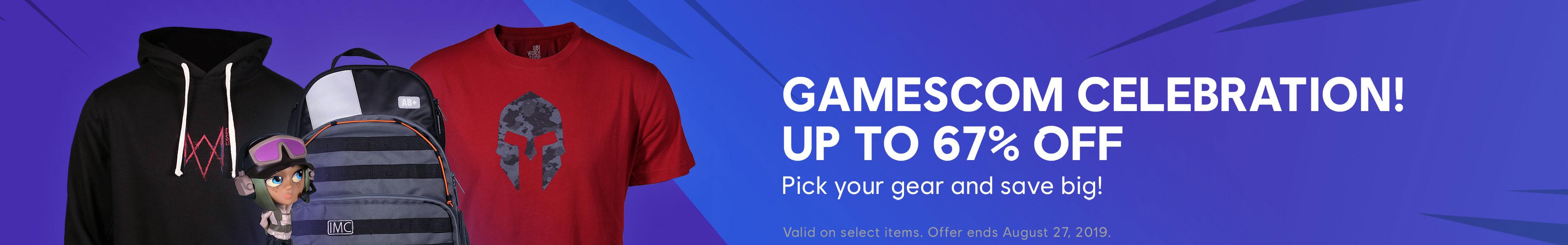Gamescom merch category banner