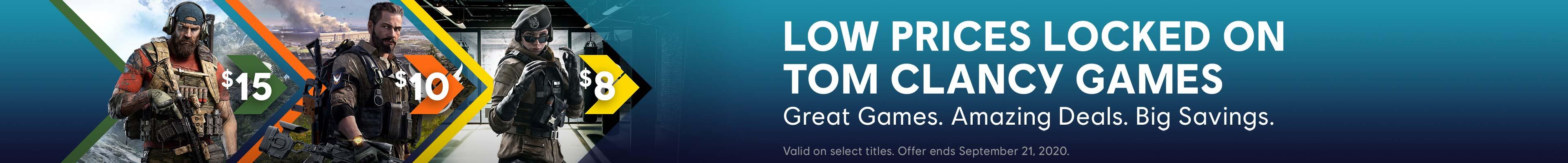 Tom Clancy Games on Sale