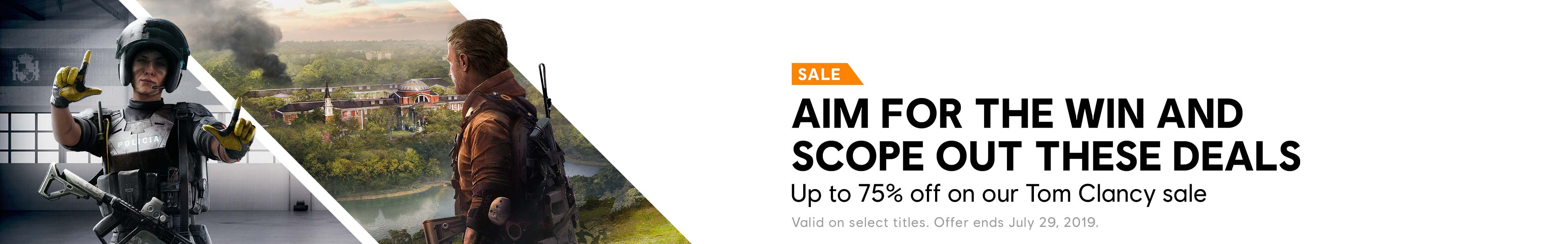 Tom Clancy Sale Category banner