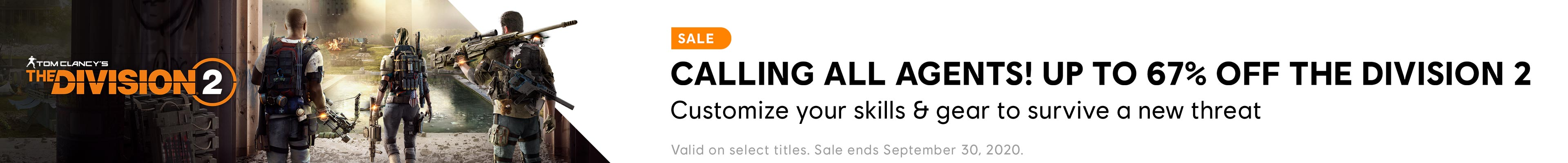 The Division 2 Sale Category banner