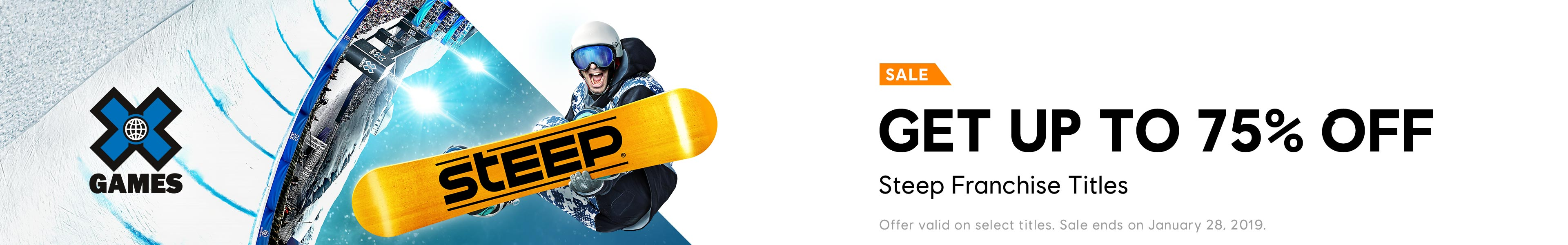Steep X Games Sale Category banner