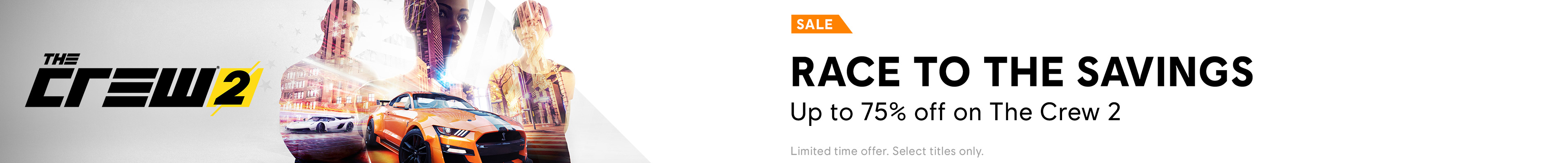 The Crew 2 Sale Category banner