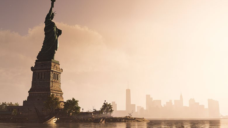 Division 2 Warlords of New York game screenshot of Statue of Liberty in Manhattan