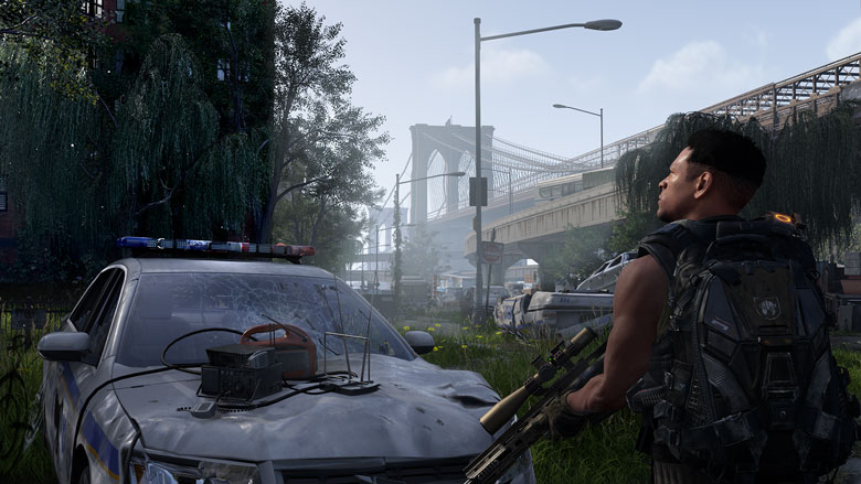 Division 2 Warlords of New York game screenshot with Agent and police car