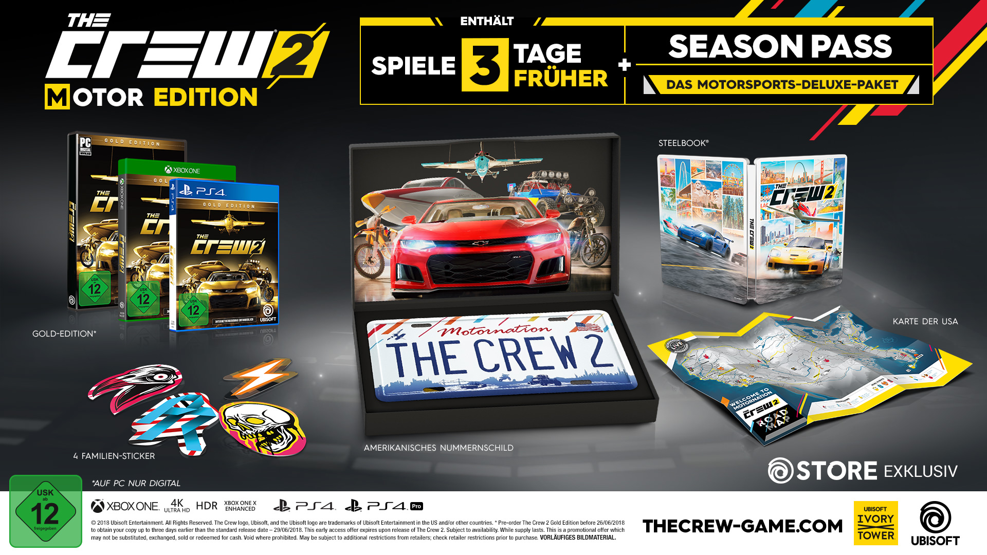the crew 2 motor edition pc ps4 xbox one jetzt. Black Bedroom Furniture Sets. Home Design Ideas