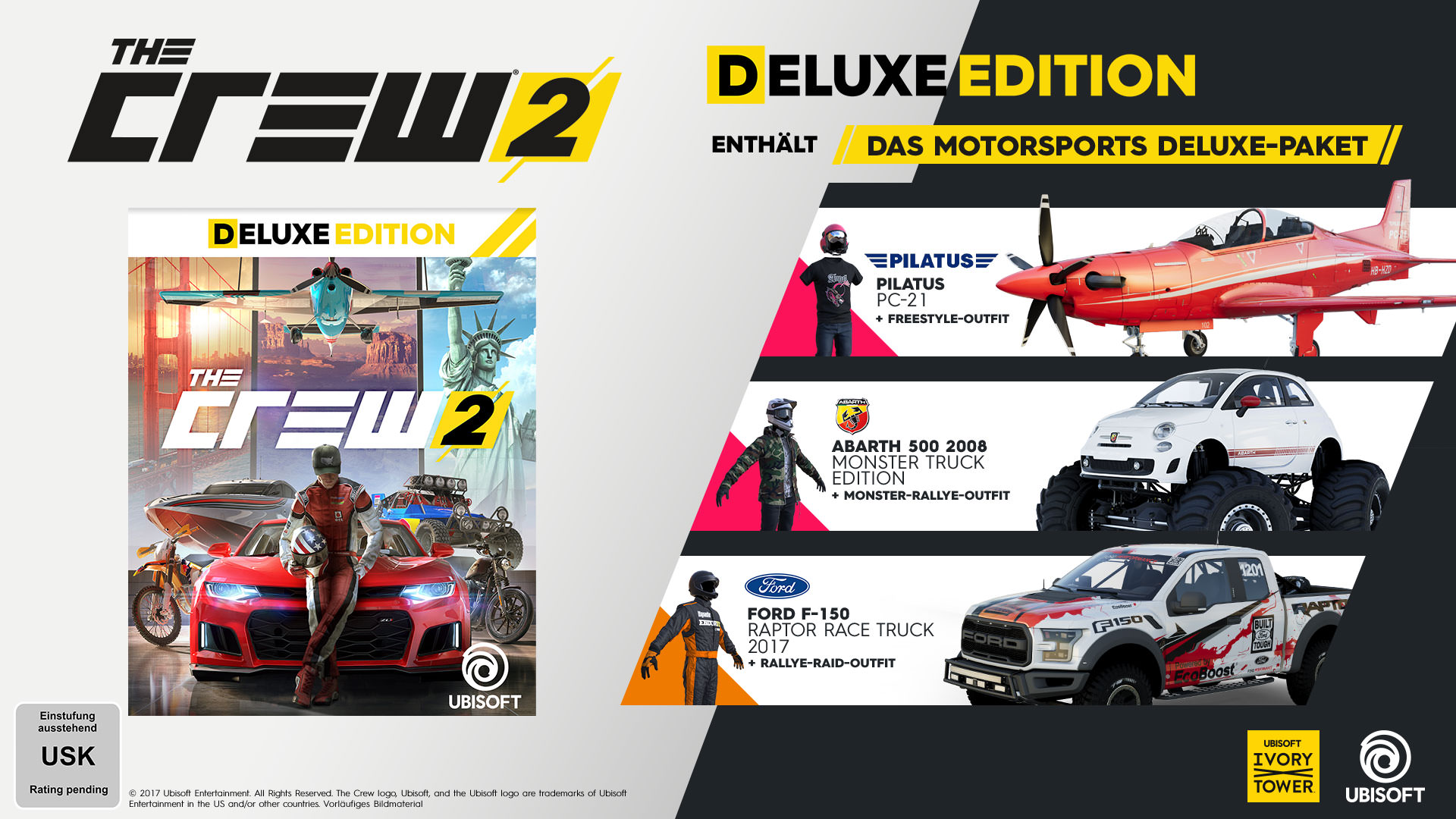 the crew 2 deluxe edition pc ps4 xbox one jetzt. Black Bedroom Furniture Sets. Home Design Ideas