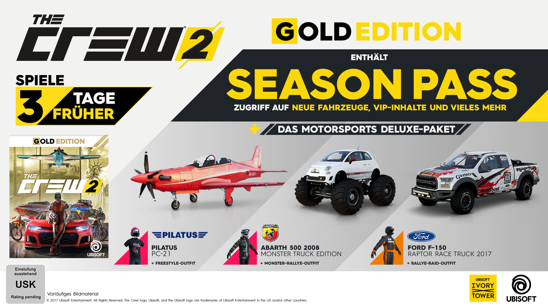 the crew 2 gold edition pc ps4 xbox one ubisoft. Black Bedroom Furniture Sets. Home Design Ideas