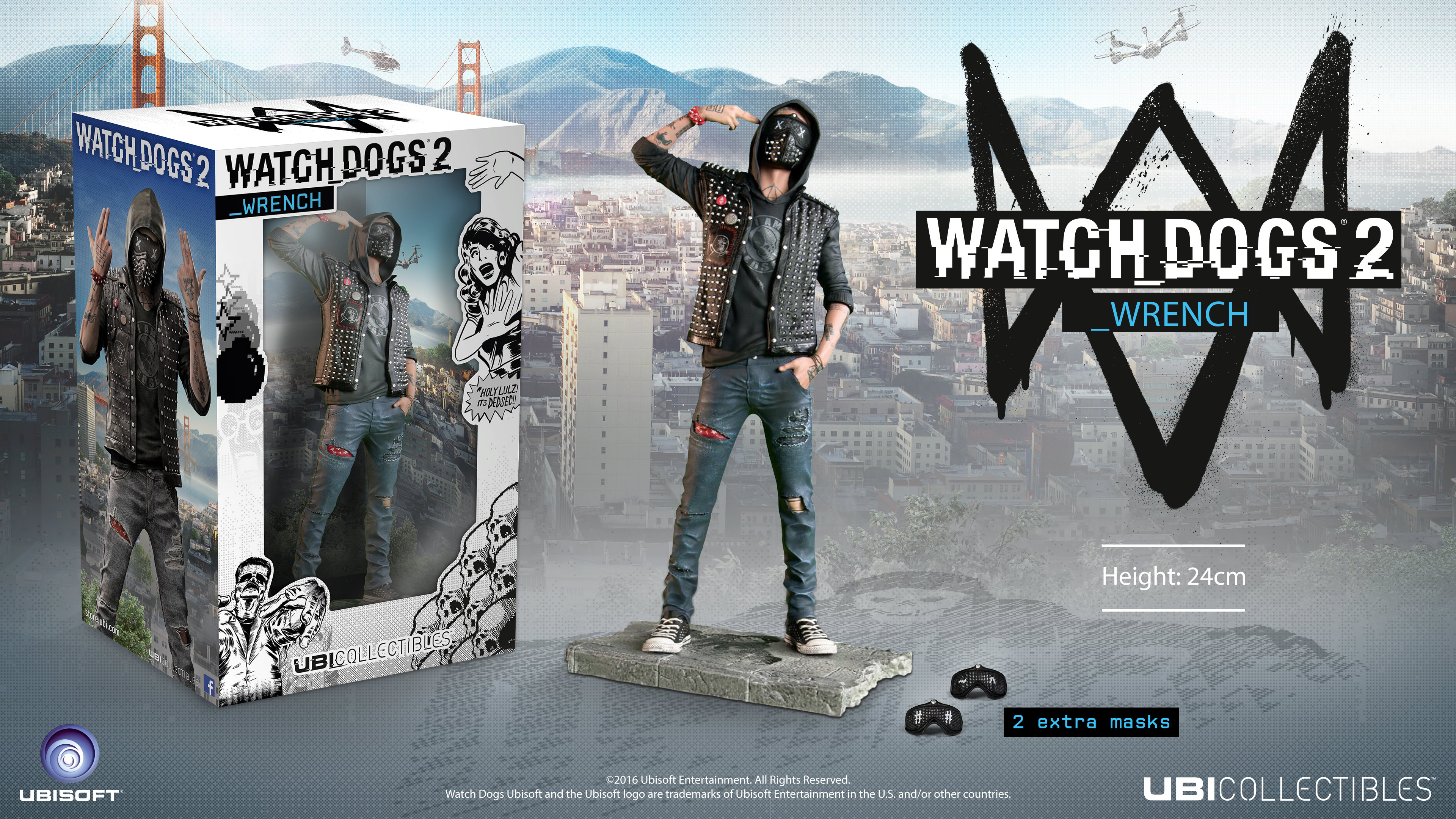 Watch Dogs 2 Official Playstation Store Pre Order: Watch_Dogs 2 Figurine: The Wrench