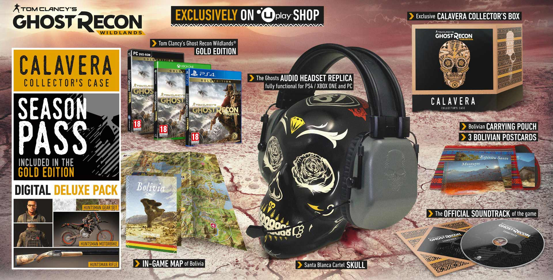 collector's edition Ghost Recon Wildland