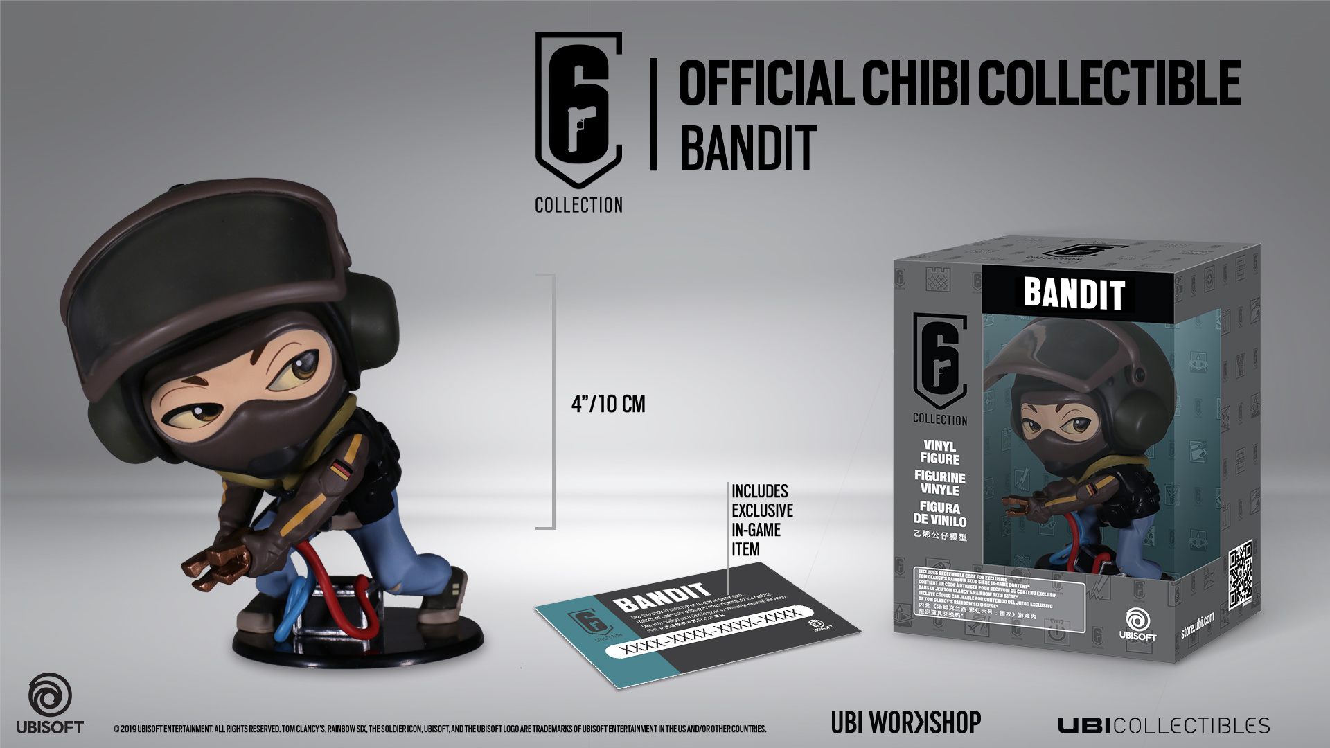 ubisoft chibi  Six Collection - Bandit Chibi Figurine