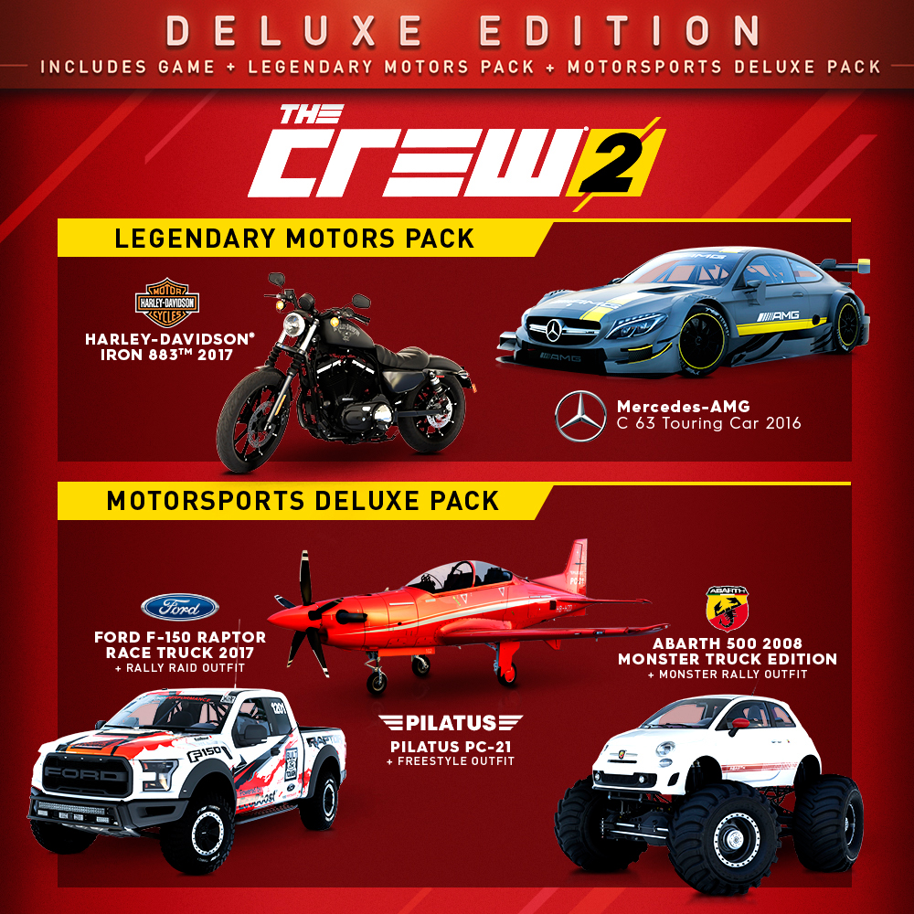 buy the crew 2 deluxe edition for ps4 xbox one and pc ubisoft official store. Black Bedroom Furniture Sets. Home Design Ideas