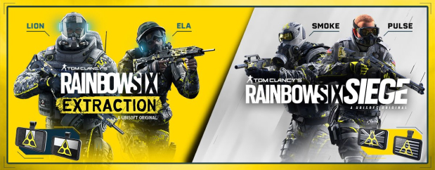 Play Rainbow Six Siege and Rainbow Six Extraction to unlock 18 Extraction Operators in Siege + get the cosmetic United Front bundle in both games.*