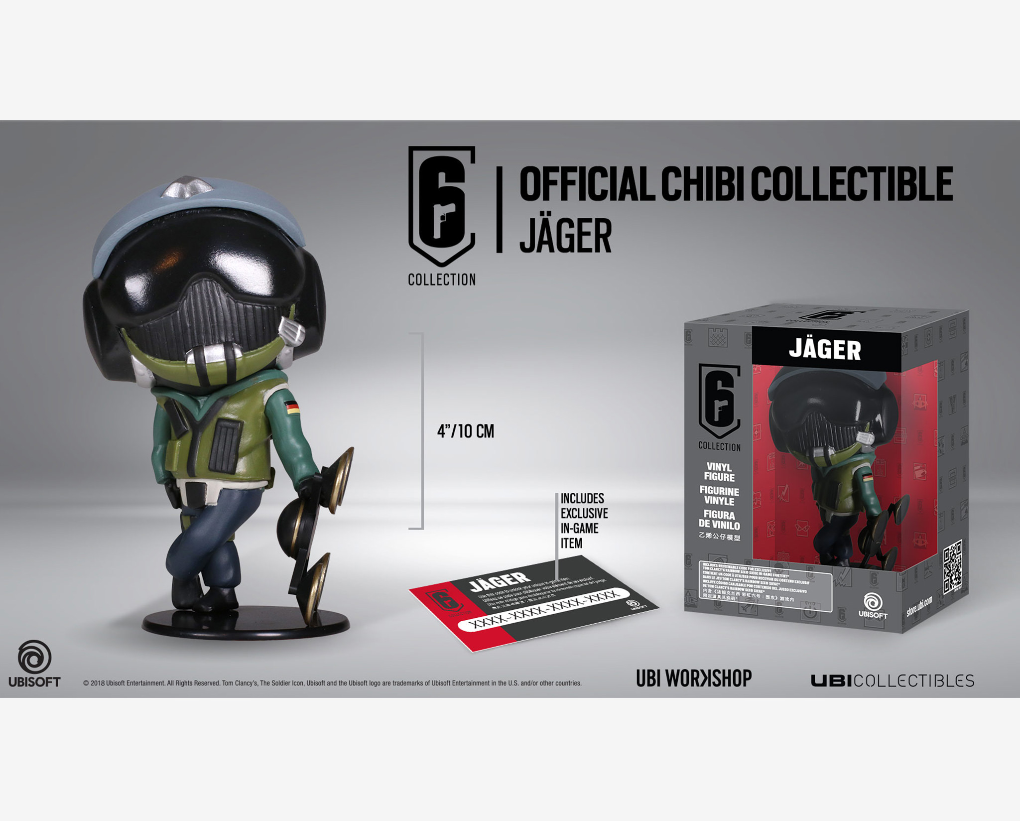 ubisoft chibi  Six collection – Jager Chibi Figurine