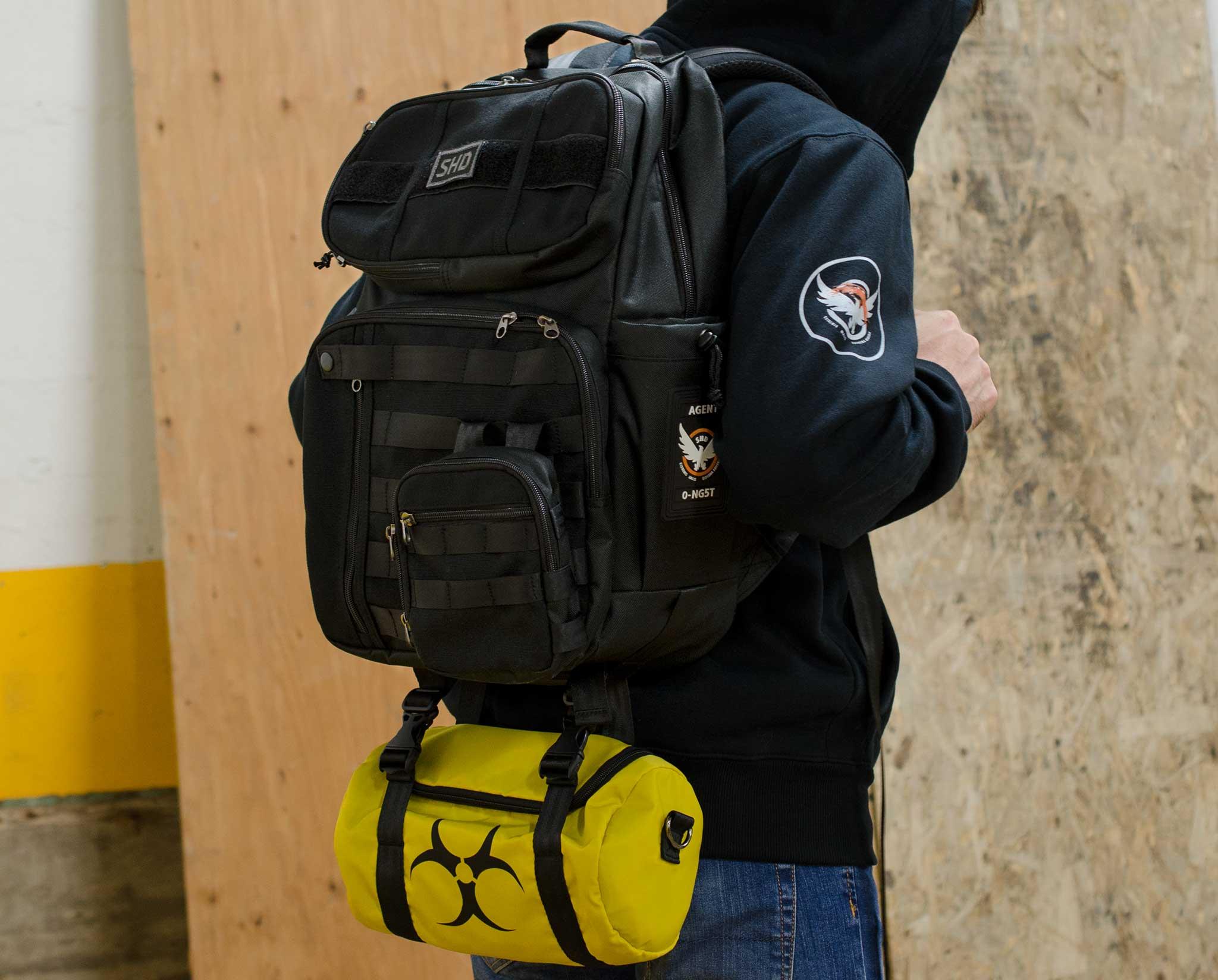 The Division 2 SHD Agent Backpack Bag //w LOGOS Black Official UBI