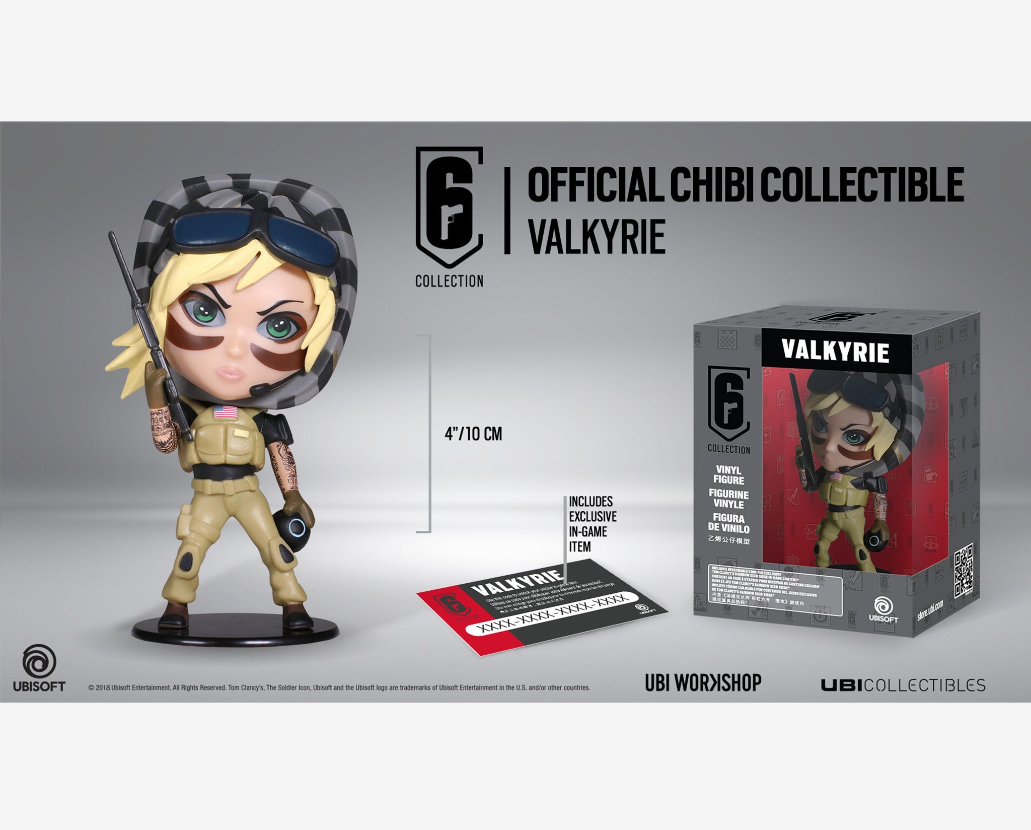 Ubisoft Rainbow Six Siege Valkyrie Chibi NEW IN BOX Collectible Figure