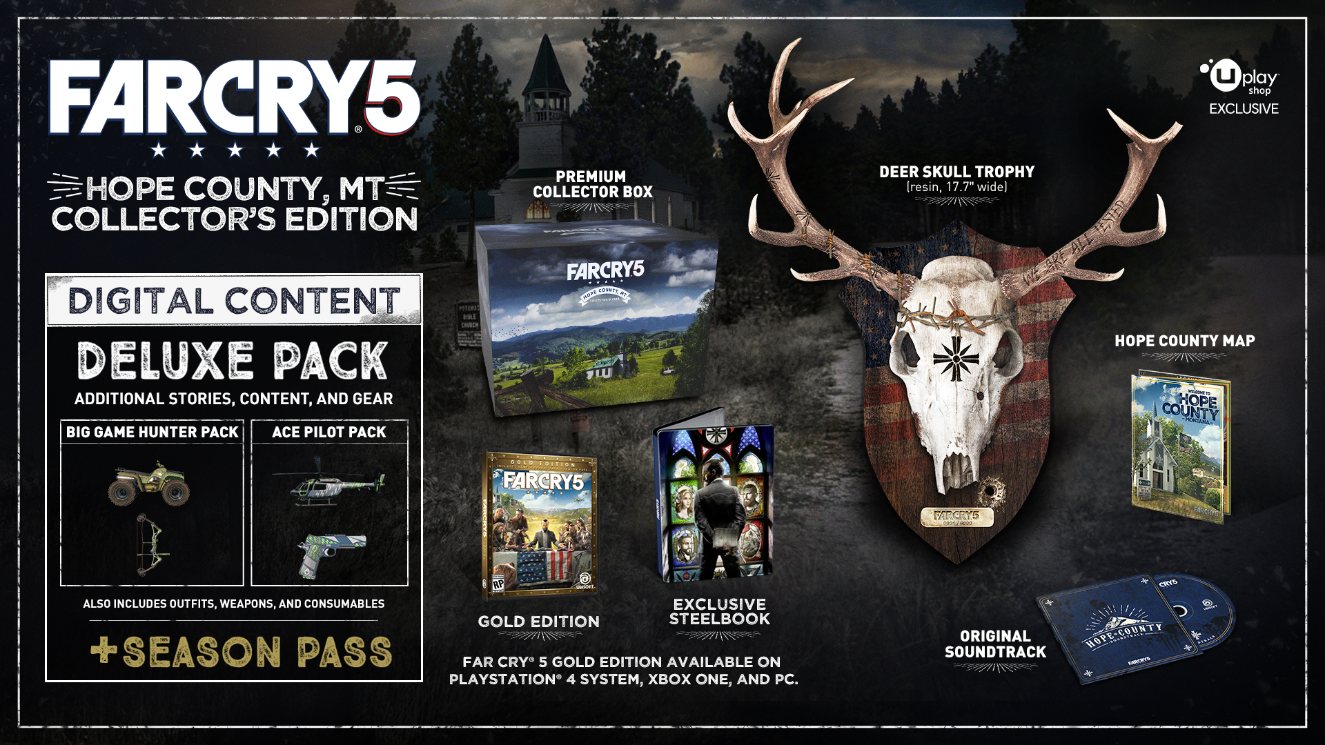 Buy far cry 5 hope county edition for ps4 xbox one and pc for Xbox one hunting and fishing games