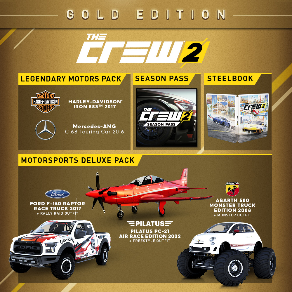 buy the crew 2 gold edition for pc ubisoft official store. Black Bedroom Furniture Sets. Home Design Ideas