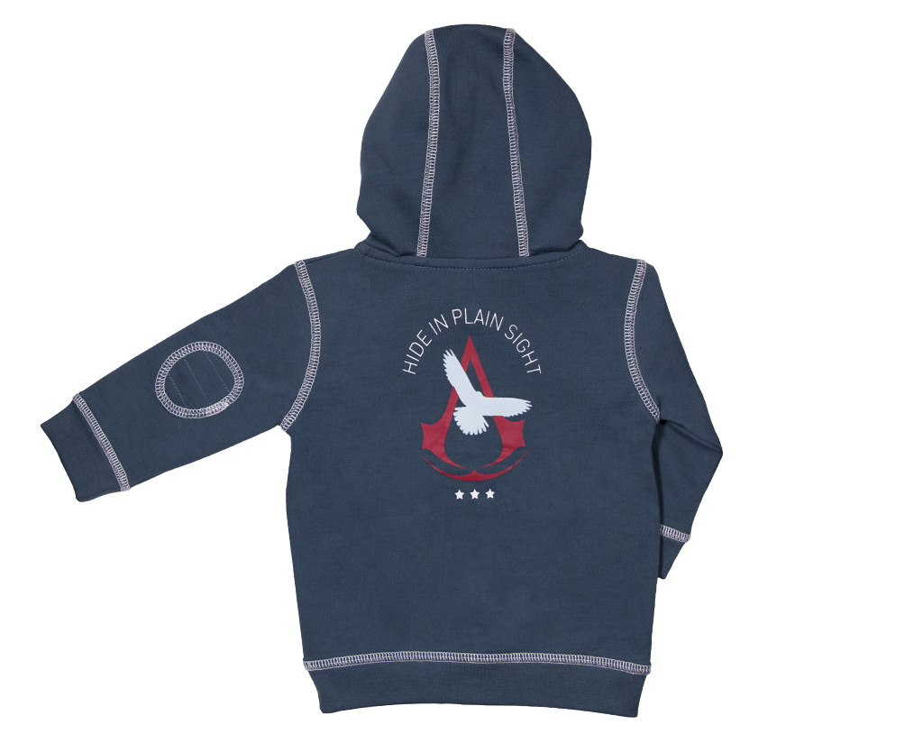 baby collection assassin 39 s creed training academy blue hoodie ubisoft store. Black Bedroom Furniture Sets. Home Design Ideas