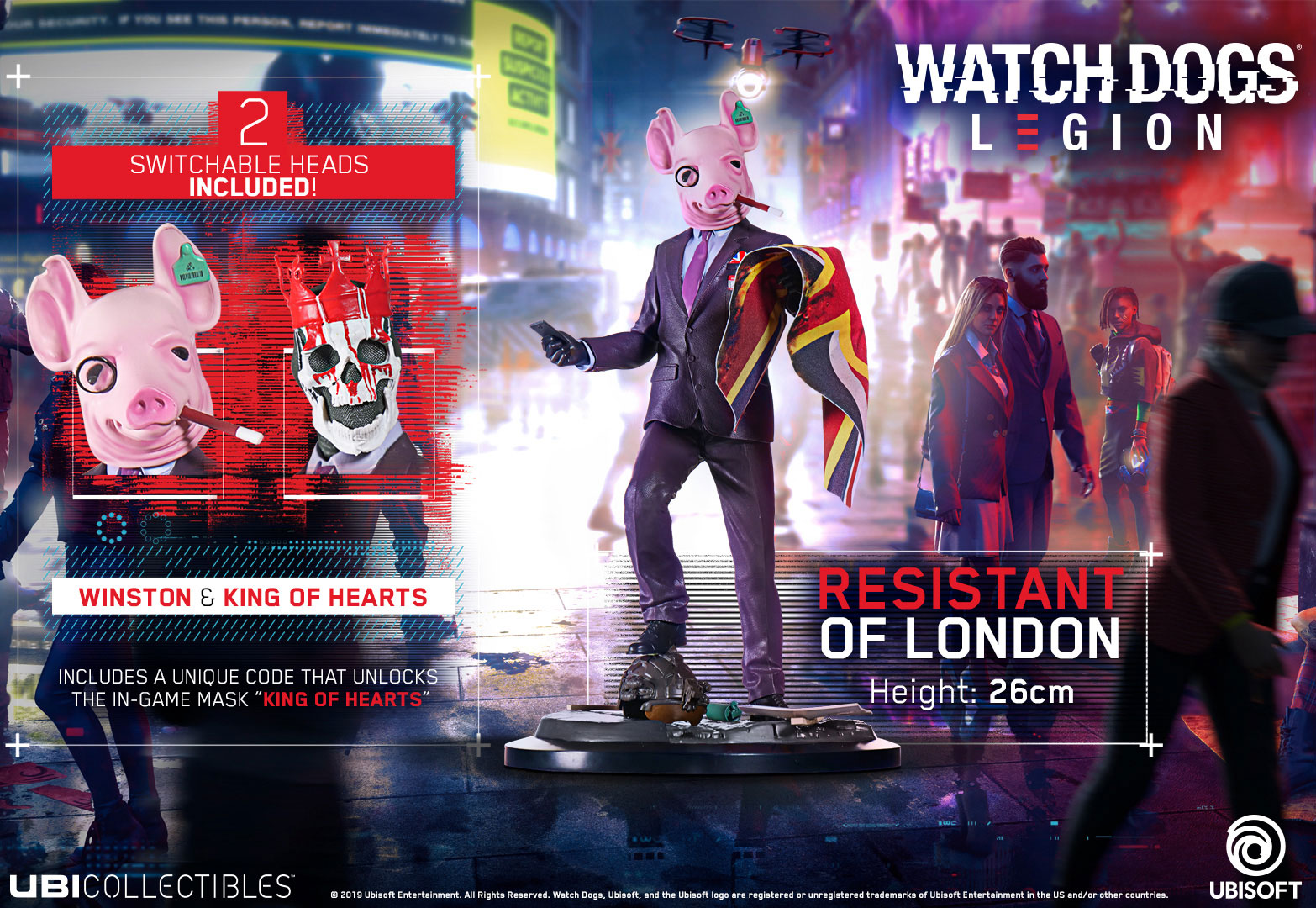 Watch Dogs Legion Resistant Of London Figurine Ubisoft