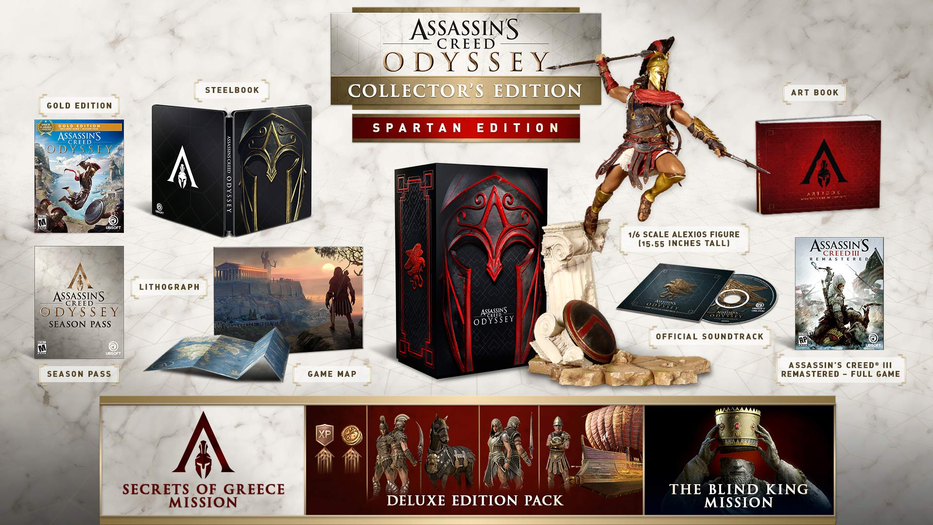 assassins creed odyssey spartan collector edition