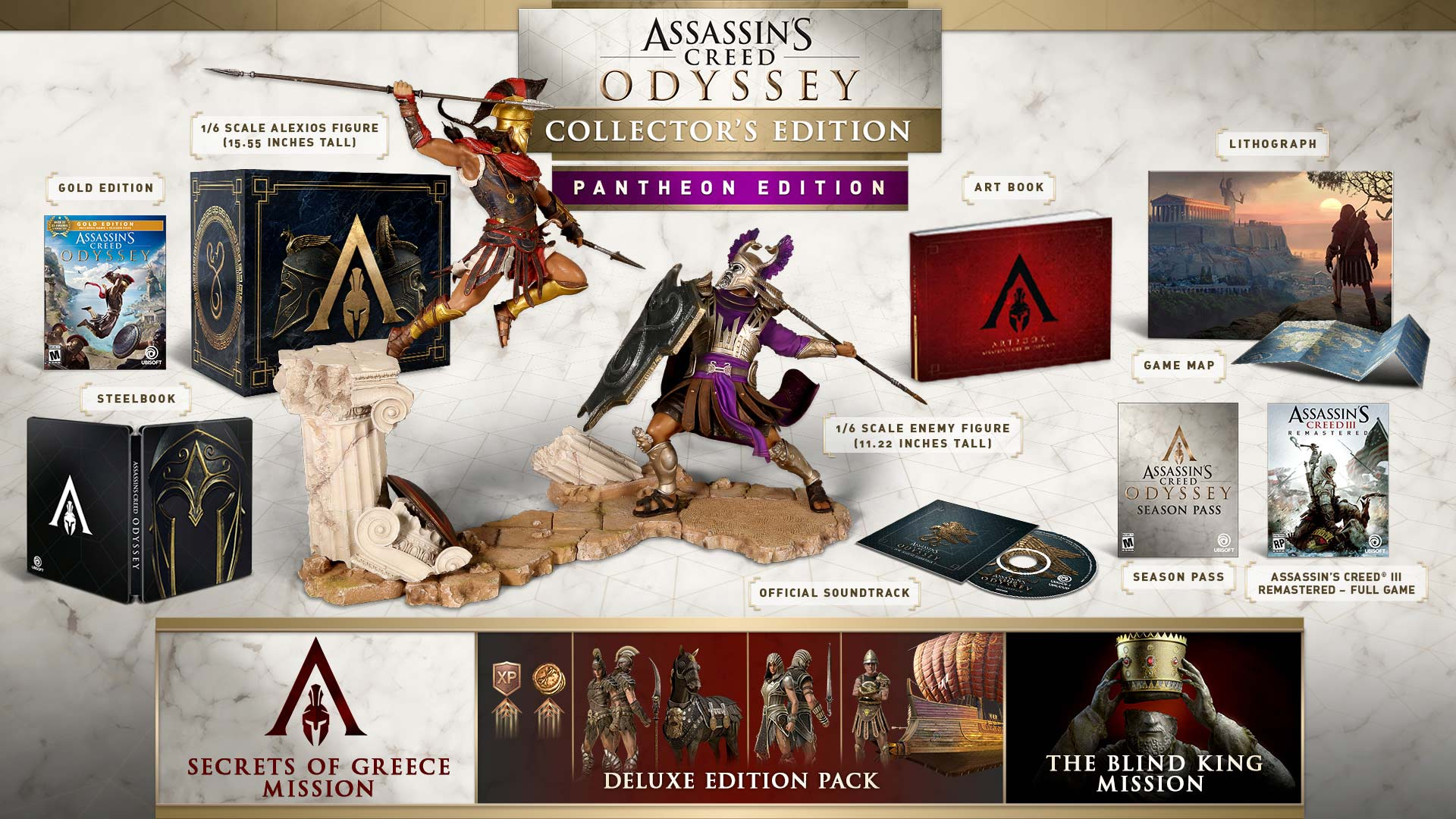 Assassins Creed Odyssey Pantheon Collector Edition