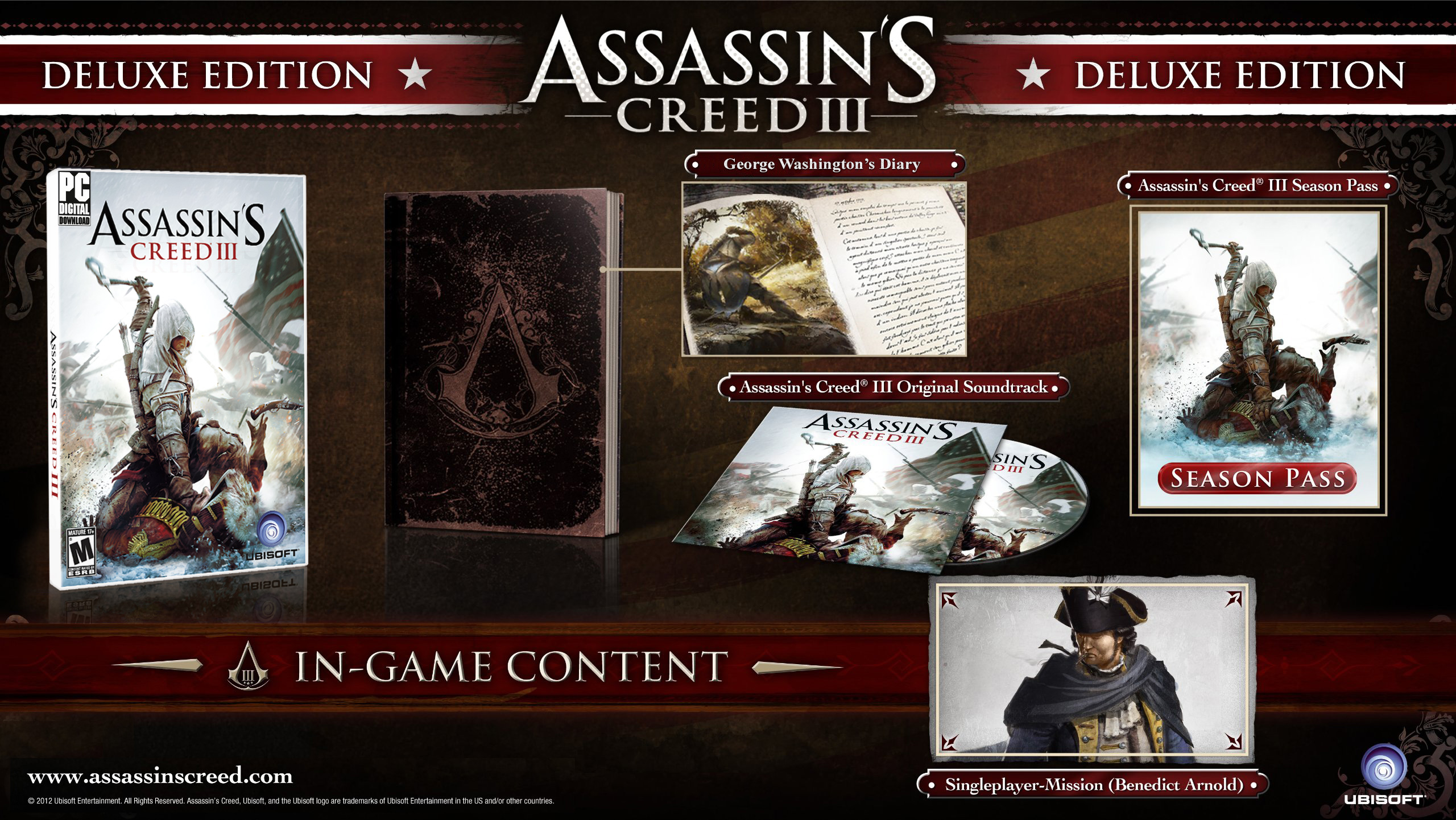 Assassin's creed iii deluxe edition.