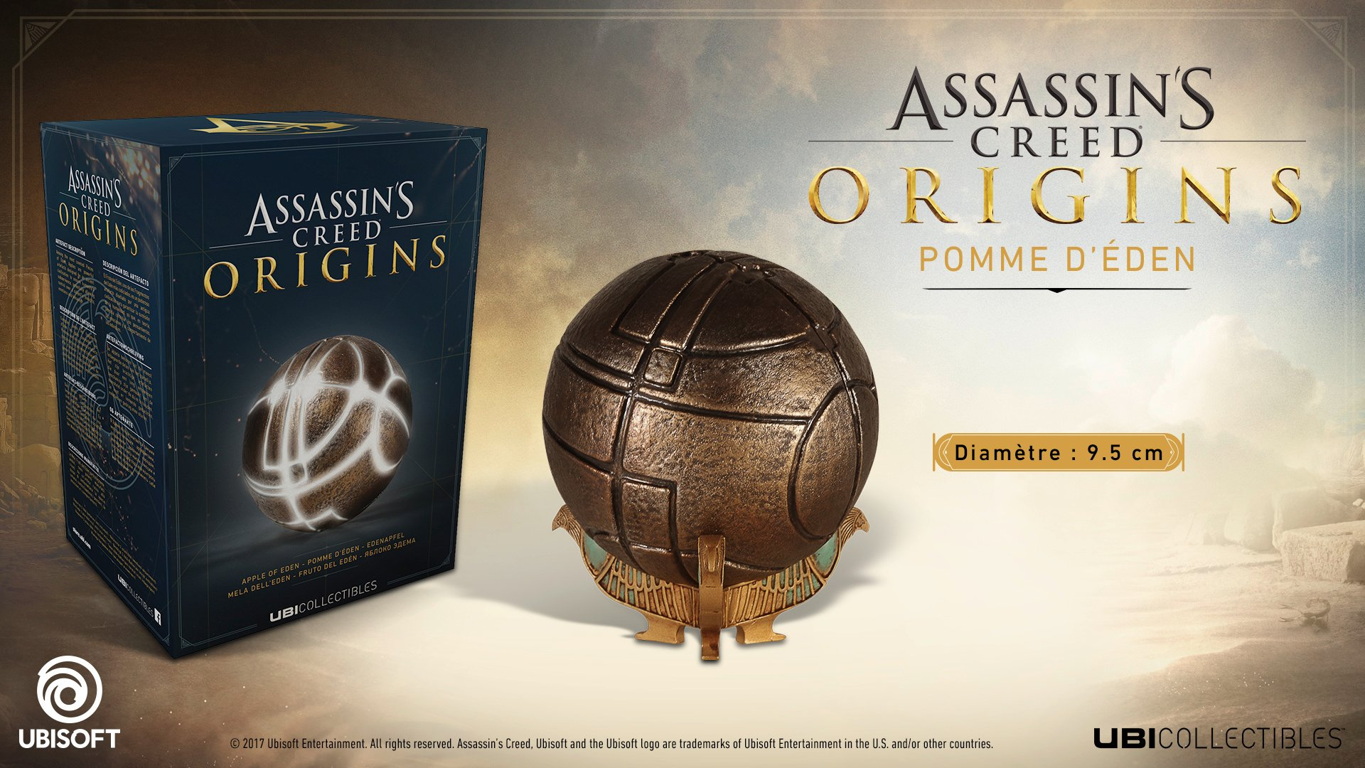 APPLE OF EDEN LED IN BOX ASSASSIN´S CREED ORIGINS// FRUTO DEL EDÉN 9 CM